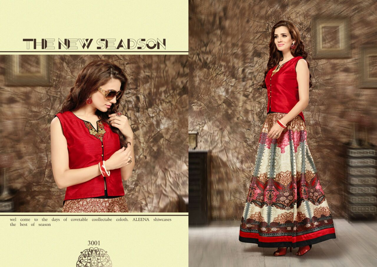 Mehjbin – New Fashion Of Semi Stitched Skirt Buy Online
