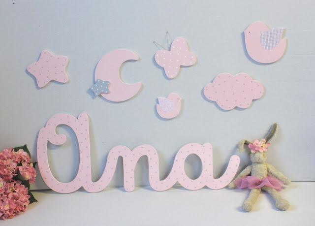 letras Ana  para decoración habitación infantil