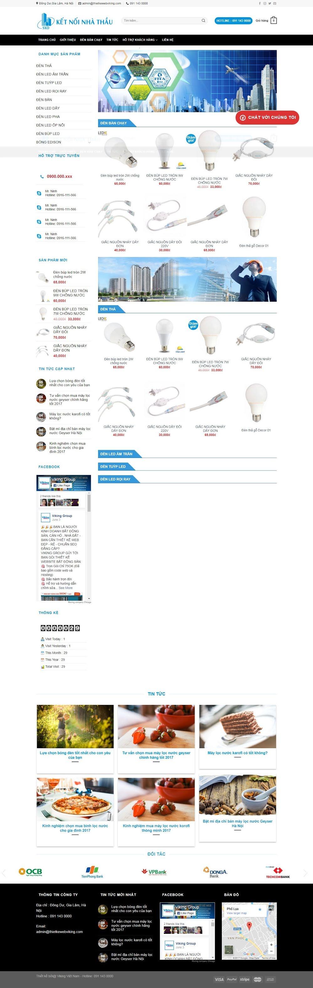 MẪU BÁN HÀNG 040 - đèn điện