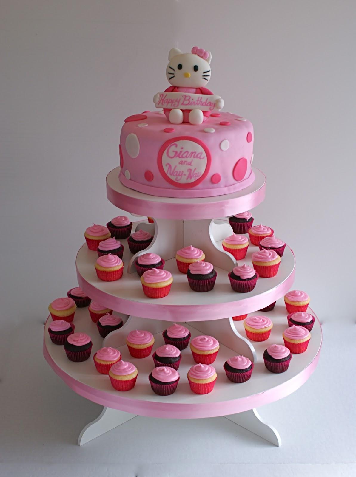 Cakes By Meg Hello Kitty Cake Amp Cupcakes