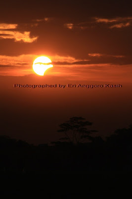 Partial Solar Eclipse 2013 in Tasikmalaya, West Java