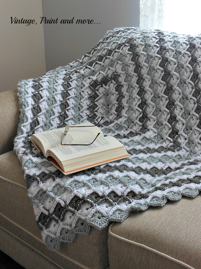 Grey Diamond Afghan Pattern Vintage Paint And More