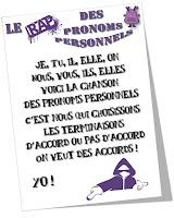http://www.teachercharlotte.blogspot.fr/2015/12/le-rap-des-pronoms-personnels.html
