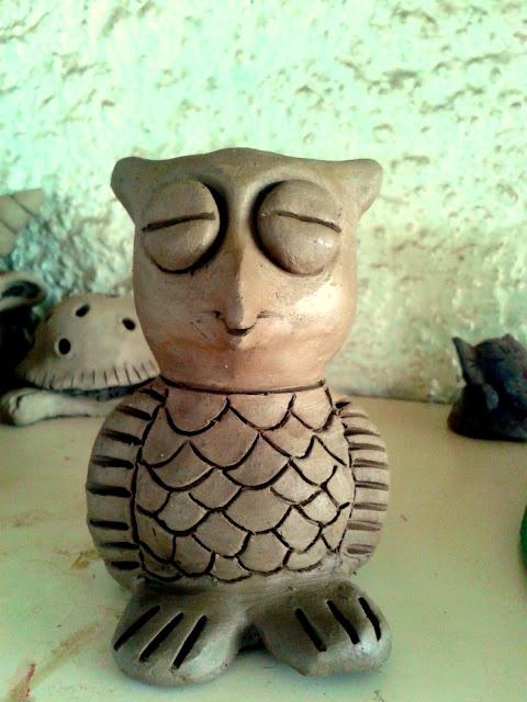 Handmade Clay Owl