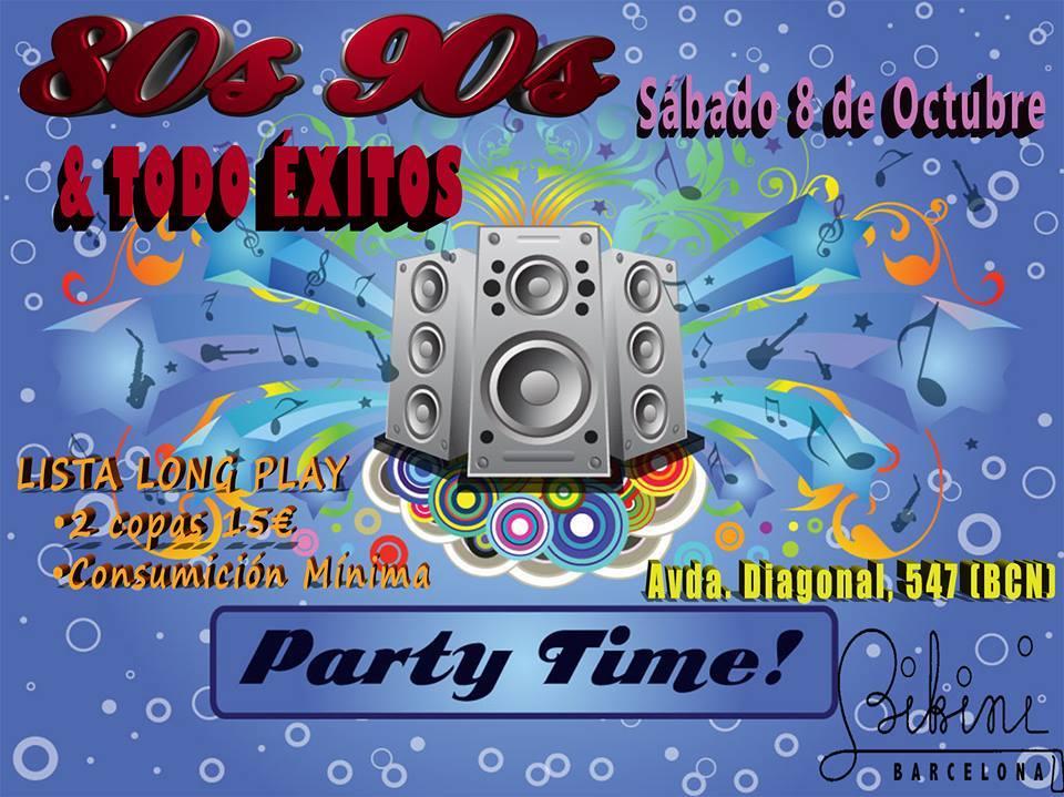 Flyer Fiesta 80s 90s & Todo Éxitos