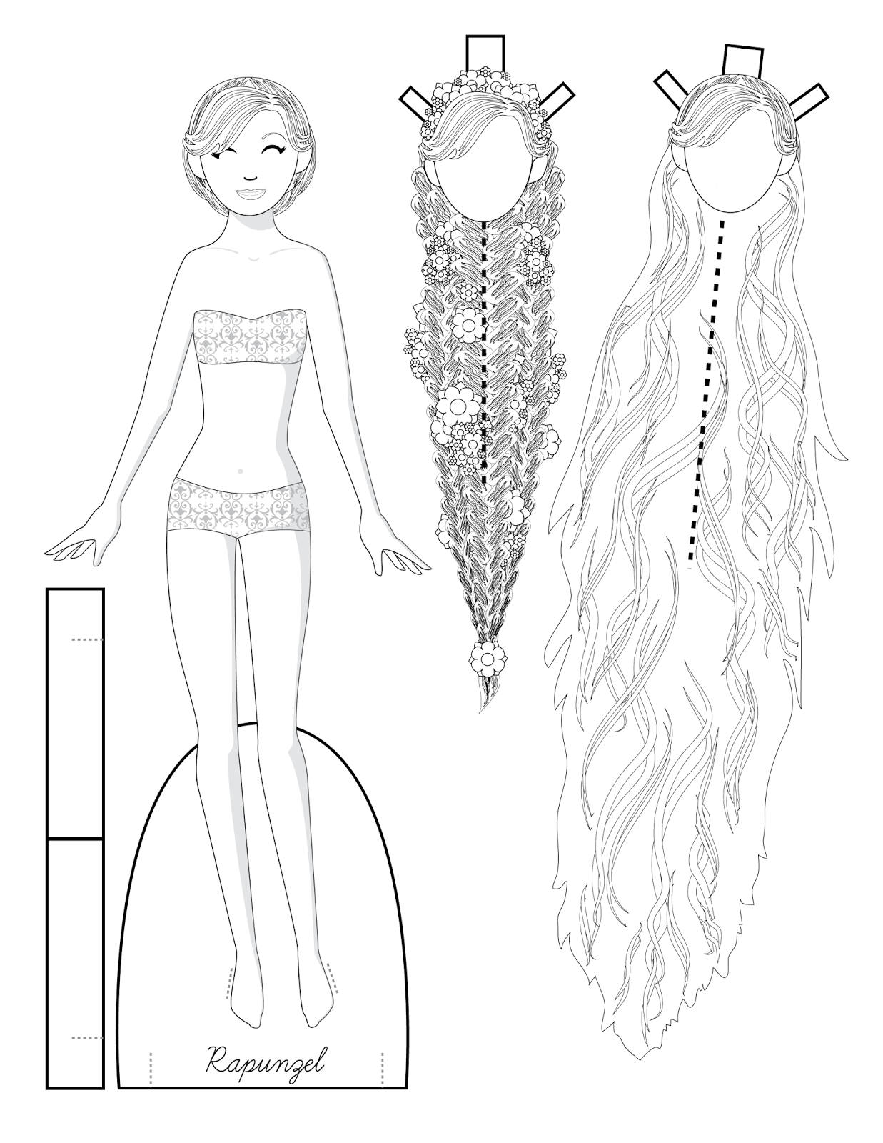 Paper Doll School: Fairy Tale Fashions to Color