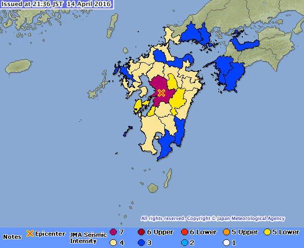 Map from Japan Meteorological Agency