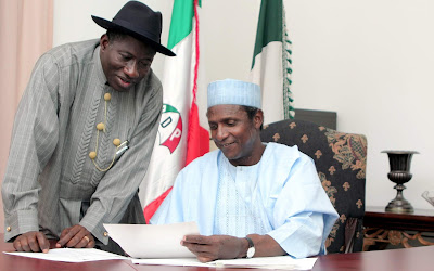 Exactly 9years Umaru Musa Yar'adua Passed on : Ex-president Goodluck Jonathan Pays Tribute