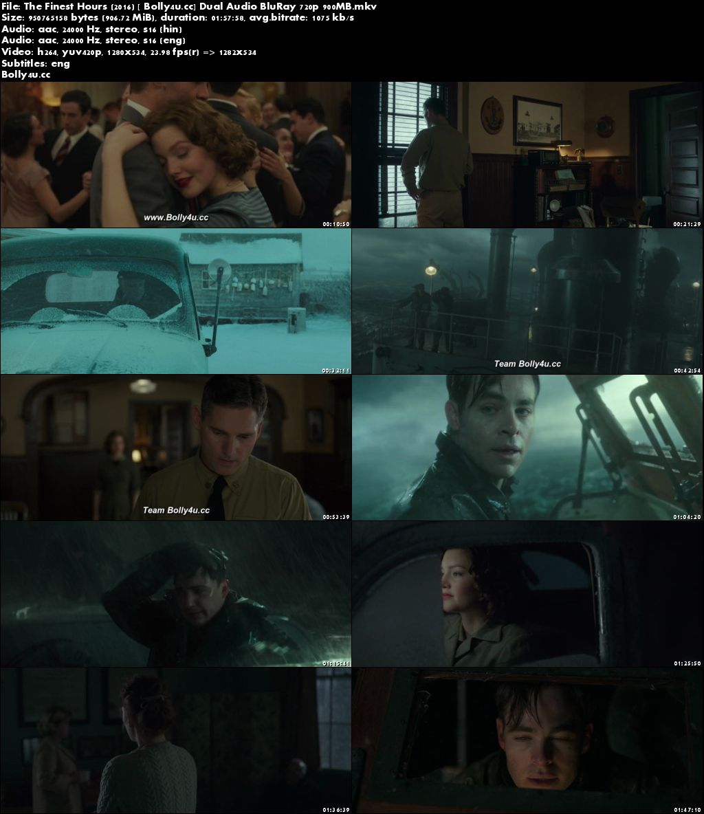 The Finest Hours 2016 BluRay 400MB Hindi Dual Audio 480p ESub Download