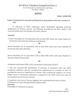 kvs-primary-teacher-eligibility-amendment