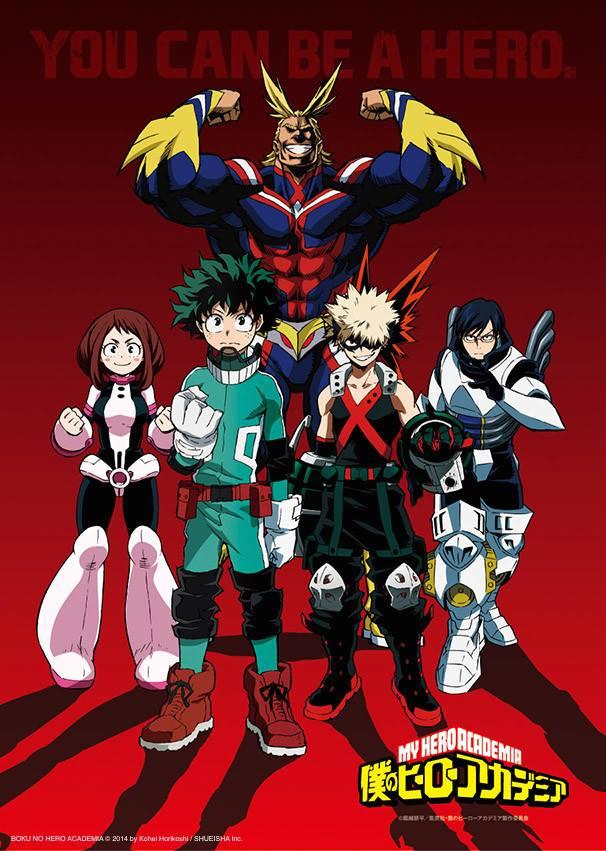 My Hero Academia - plakat promujący anime