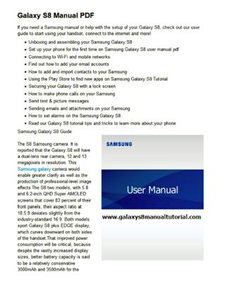 Galaxy S8 Manual PDF
