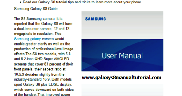 galaxy s user manual pdf