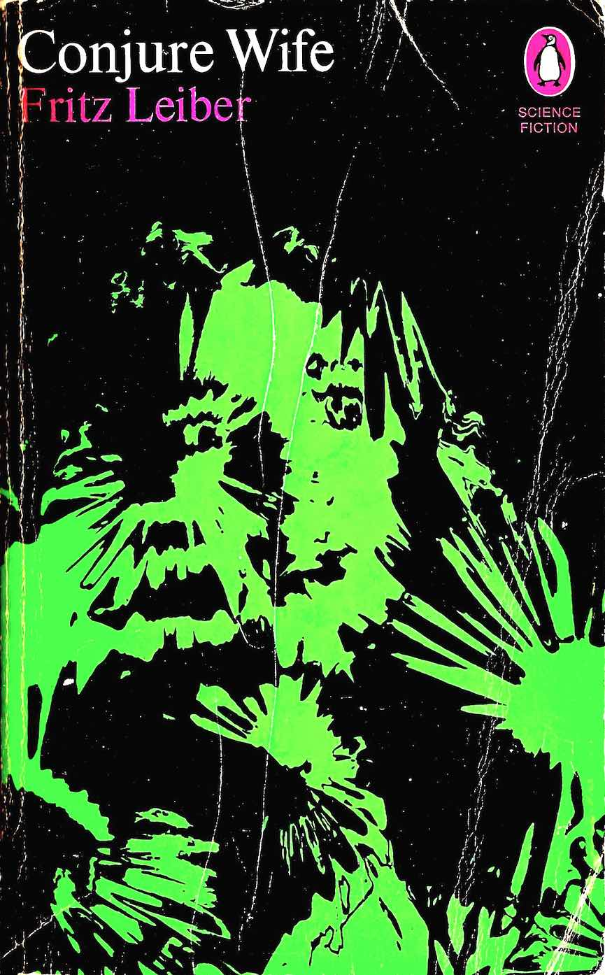 a Franco Grignani 1969 graphic from a rubbed Polaroid, a woman in fear, Conjure Wife by Fritz Leiber