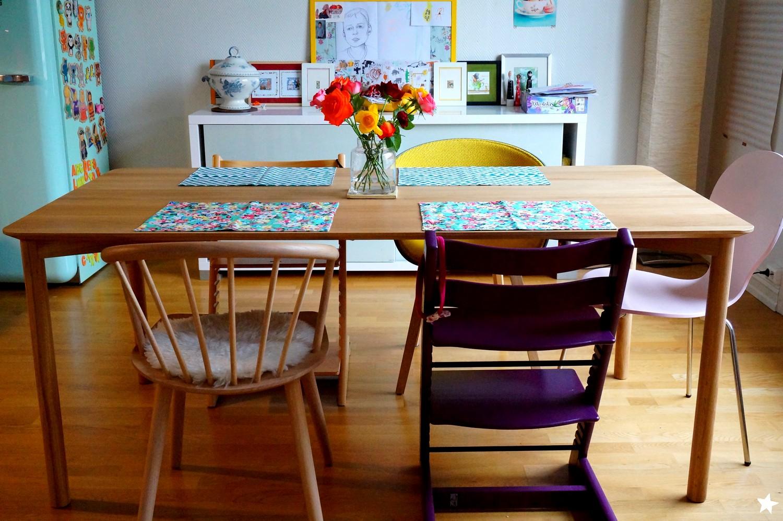 farine d 39 toiles notre nouvelle table enfin la coquine a mis du temps arriver au pays des. Black Bedroom Furniture Sets. Home Design Ideas
