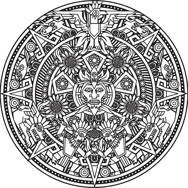 Mandala Coloring Pages Mandalas Coloring Pages For Adults Coloring Page  Mandala Inca Free Online