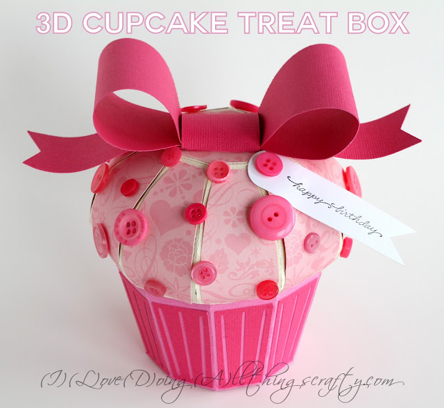Pinkalicious 3D Paper Cupcake Treat Box | SVGCuts