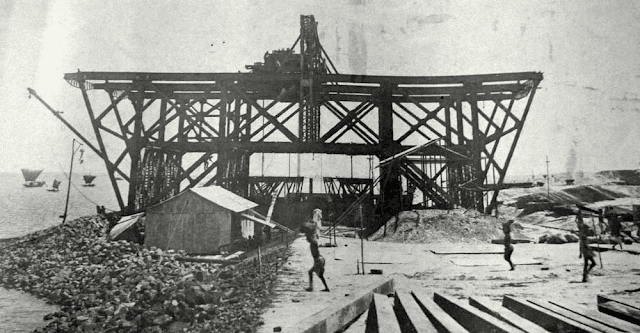 the construction of harding bridge 1912