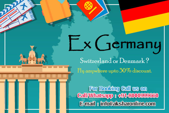 Ex. Germany, USA, Canada, Australia, New Zealand, United Kingdom, London, Paris - Special Domestic and international air ticket fare, Lowest Airfare in Air Ticket booking, cheap ticket agent in india, cheap ticket agent in ahmedabad, air ticket booking agent in ghatlodia, ahmedabad, akshar infocom, aksharonline.com, www.aksharonline.in, www.aksharonline.com, +91-9427703236, +91-8000999660, info@aksharonline.com, akshar travel services, Flight, Hotel, Tour, Car, Money Transfer, Tour Packages, Bus Ticket, Railway, Imagica, Essel world, Ticket booking agency in ahmedabad