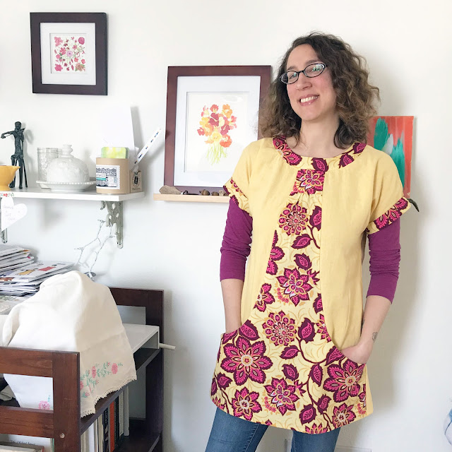 Portfolio Tunic, Sew Lisette, sewing, art studio, Anne Butera, My Giant Strawberry