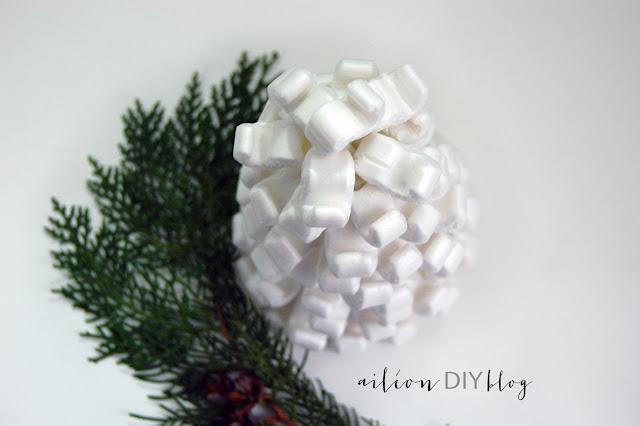abeto nevado diy arbol navidad
