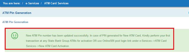 Netbanking se kaise debit card ki pin update kare