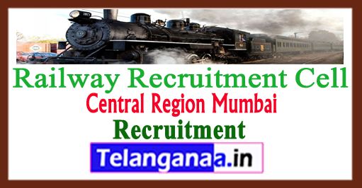 RRC CR Railway Recruitment Cell Central Region Mumbai Railway Recruitment 2018