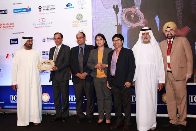 Jindal Stainless Limited wins prestigious Golden Peacock Award 2017