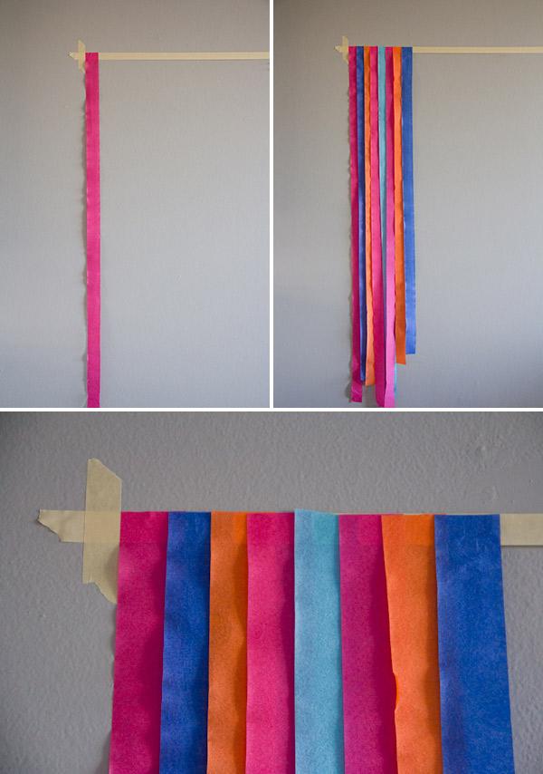 enfeites com papel crepom