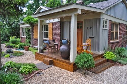 Inspirasi Minimalis Model Teras Rumah Minimalis Lantai Kayu