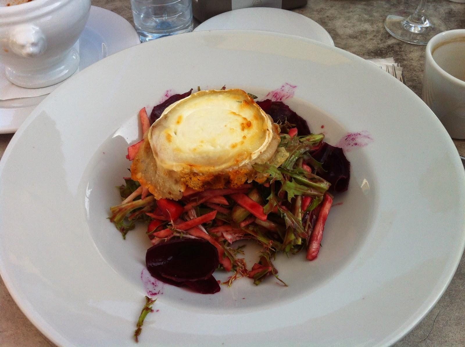 beet salad from Bona in Trakai