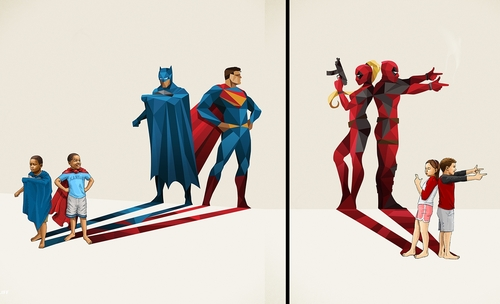 00-Jason-Ratliff-Comic-Book-Heroes-in-Super-Shadows-II-Illustrations-www-designstack-co