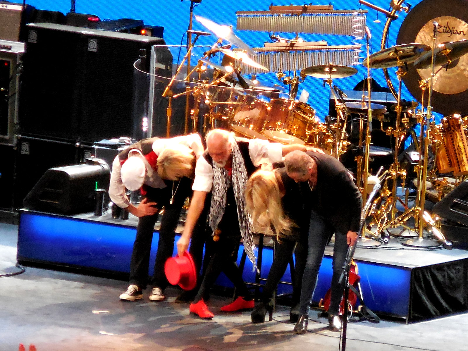 Image of Fleetwood Mac band taking bow ©K. R. Smith 2015