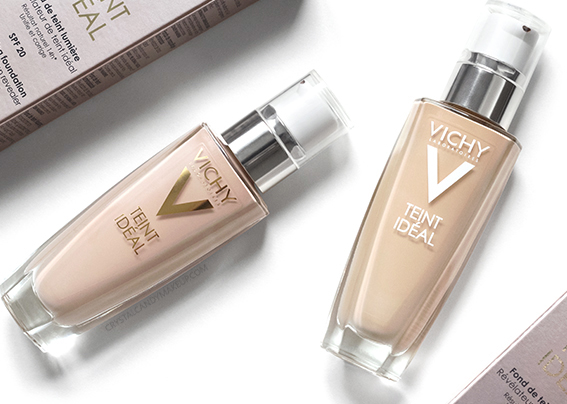 Vichy Teint Ideal Illuminating Fluid Foundation 25 35 Review Photos Swatches Before After