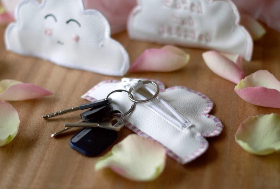 pilven muotoinen avainkukkaro