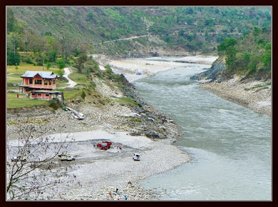 Sutlej river at Tattapani