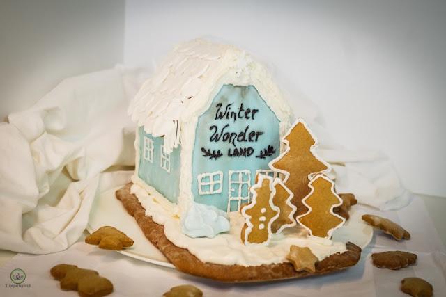 Lebkuchenhaus selber backen und verzieren mit Zuckerguss und Fondant - Foodblog Topfgartenwelt