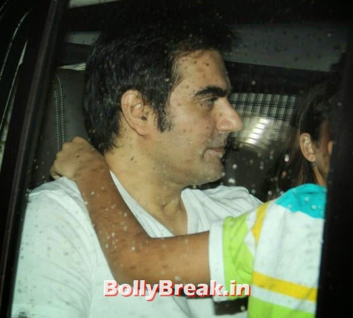 Arbaaz Khan, Celebs clicked at 'Kick' Special Screening at Yash Raj Studios