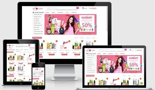Template blogspot bán mỹ phẩm Minh Hầng
