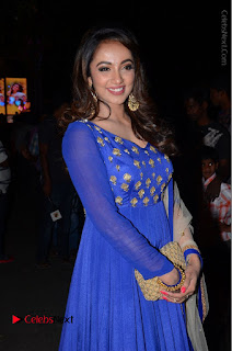 Telugu Actress Tejaswi Madivada Pos in Blue Long Dress at Nanna Nenu Na Boyfriends Audio Launch  0040.JPG