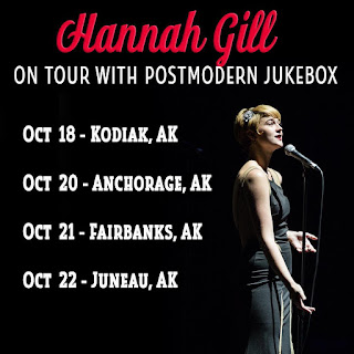 Get tickets to see alternative pop singer, Hannah Gill live in concert on tour with music collective, Postmodern Jukebox in Alaska, USA in October, 2017
