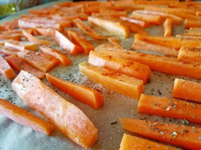 zdrowy fast food; frytki z marchewki; batat