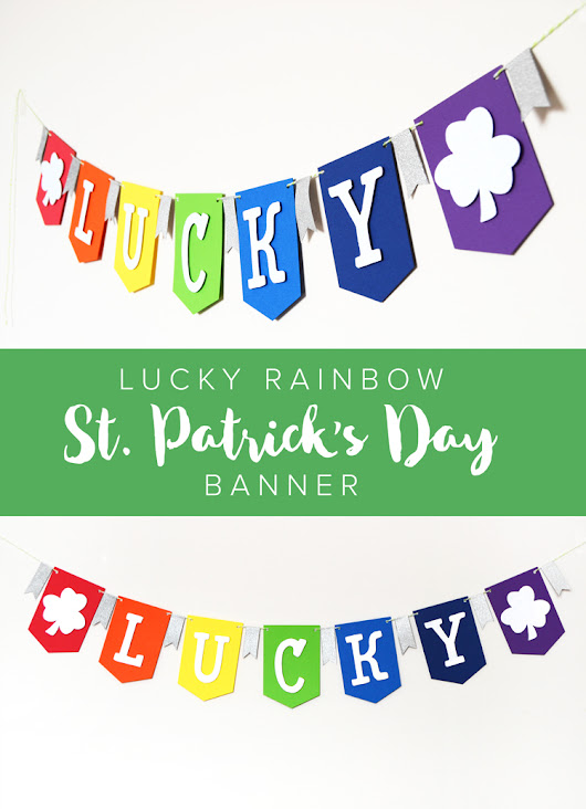 DIY Lucky Pennant Banner at Crafts Unleashed