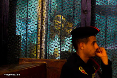 Shawkan in court by Momen Samir