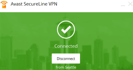 Avast SecureLine vpn to change ip