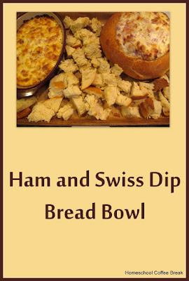 Ham and Swiss Dip Bread Bowl - a recipe on Homeschool Coffee Break @ kympossibleblog.blogspot.com #recipe