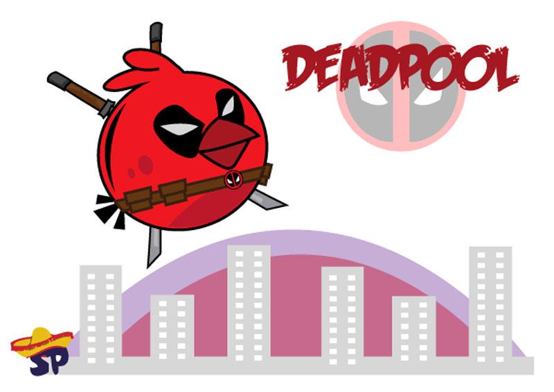 La Web Angry Birds: Angry Bird Superhéroe - Deadpool para imprimir