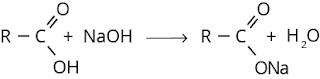 Reaksi asam karboksilat dengan NaOH