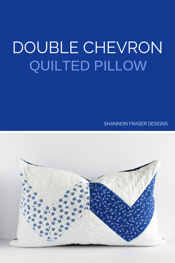 Double Chevron quilted pillow | Shannon Fraser Designs