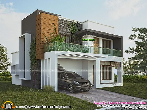 Green home contemporary style in Kerala